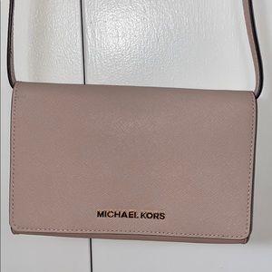 Michael Kors blush crossbody purse